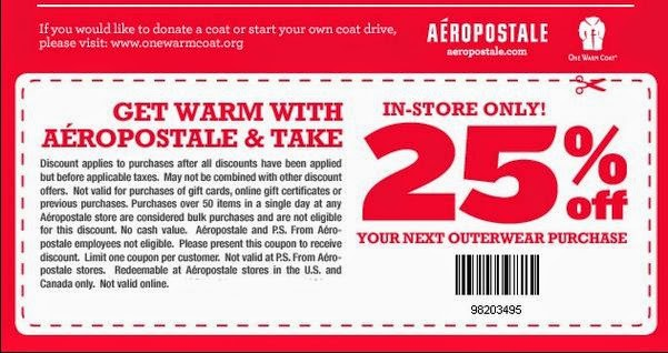 Aeropostale in store coupon june 2018