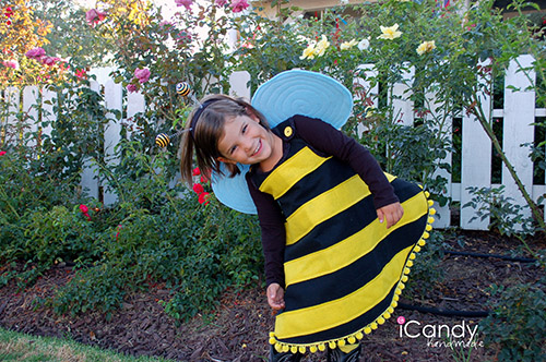 Diy bumble bee costume tutorial if youd like to make one of these dresses yourself its actually very versatile and would be a cute base for quite a few costumes like a kitty or a solutioingenieria Image collections