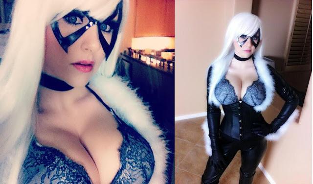 Angie Griffin em cosplay de gato preto!