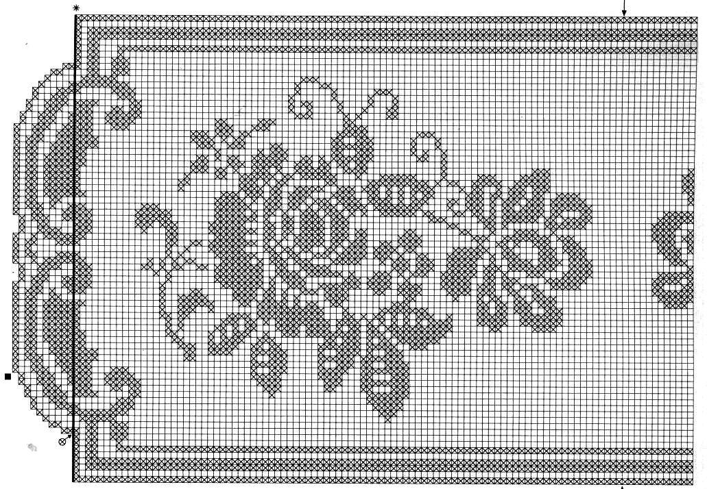 Филейное вязание салфетки скатерти схемы 76