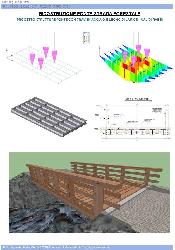 Mio progetto. Ricostruzione ponte strada forestale in Val di Rabbi (Trentino)
