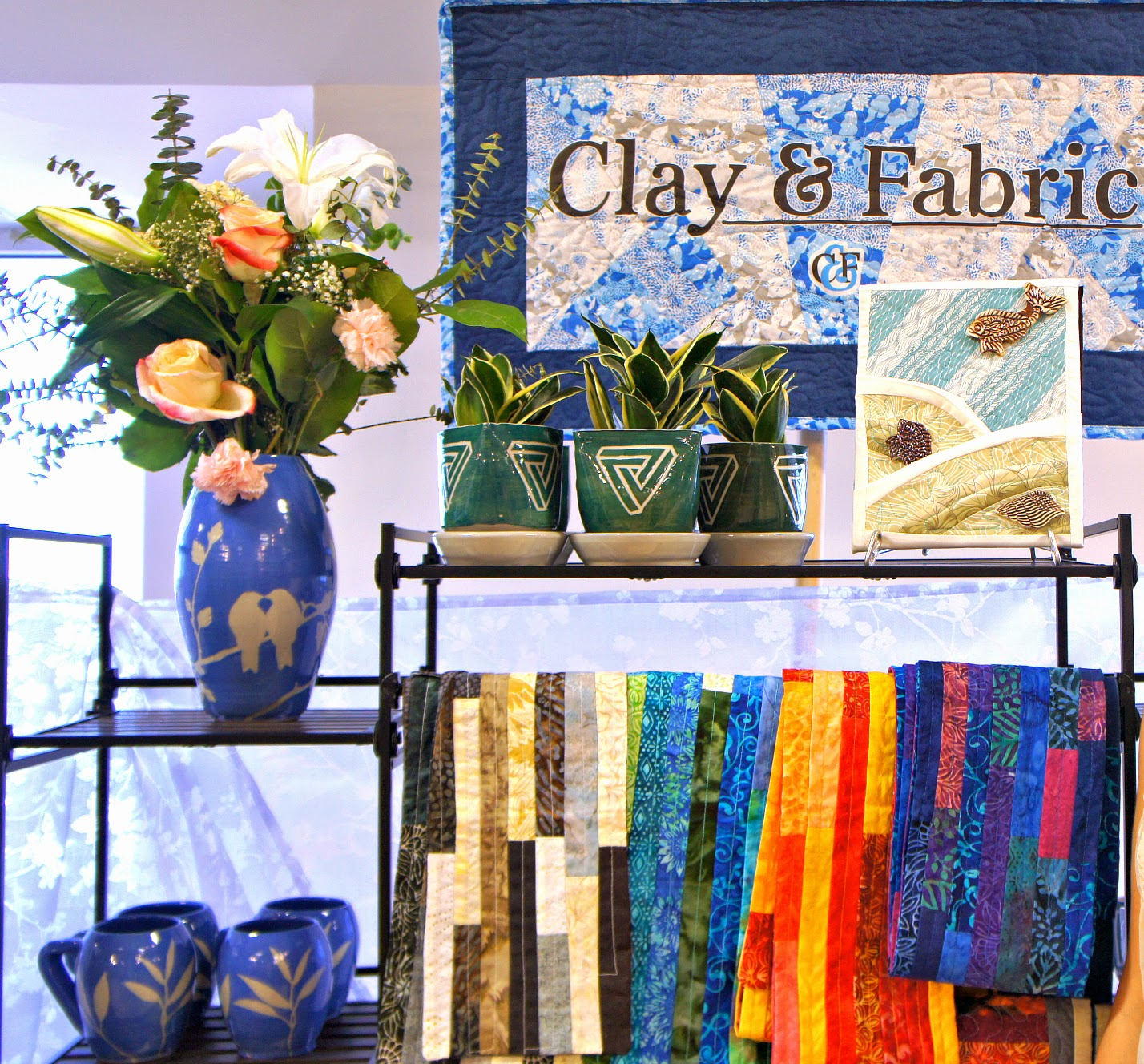 Clay and Fabric feature and $60 GC GIVEAWAY on Shop Small Saturday Showcase at Diane's Vintage Zest!