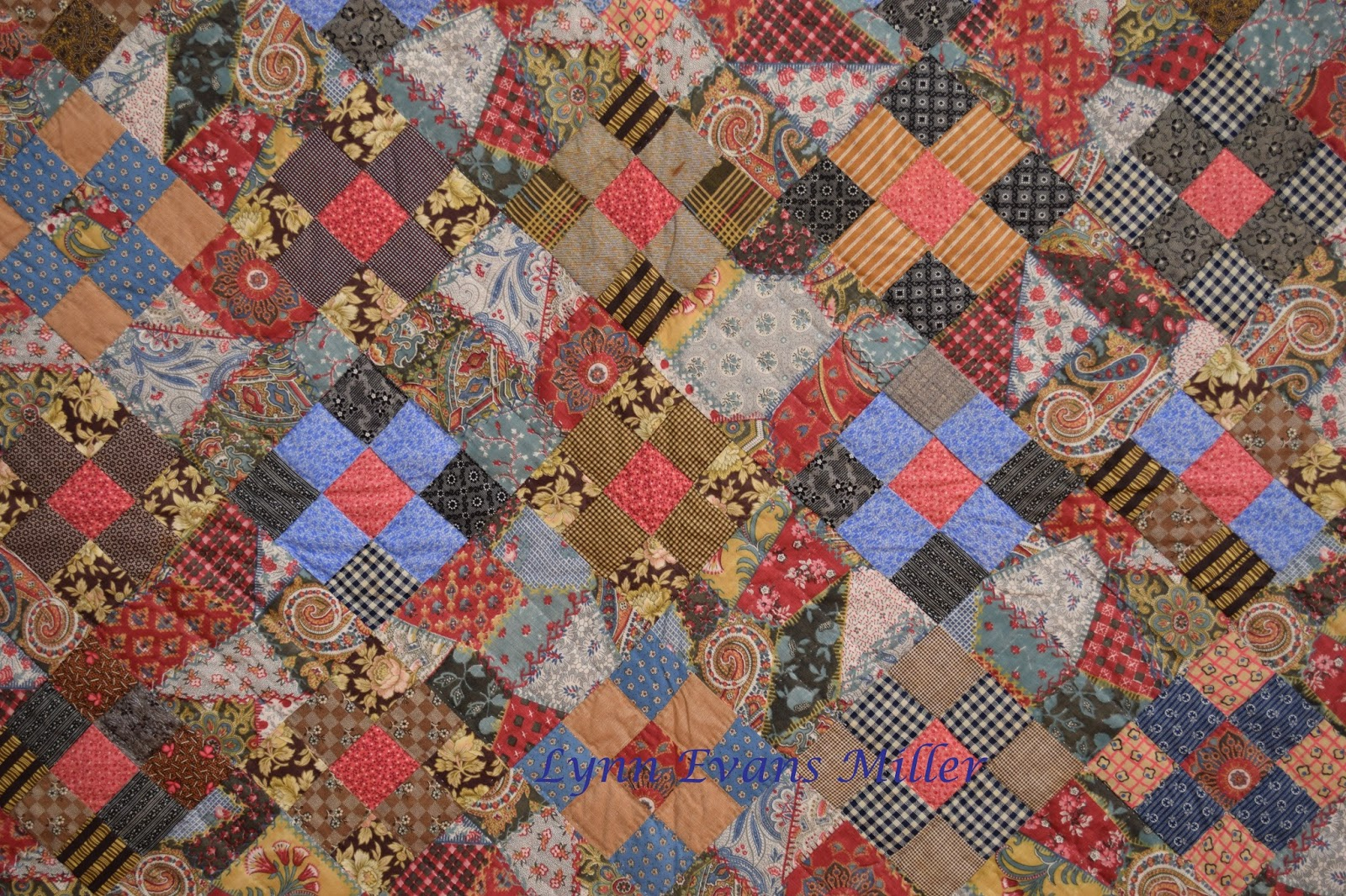 Quilts vintage and antique antique cheater fabric for What to do with an old quilt