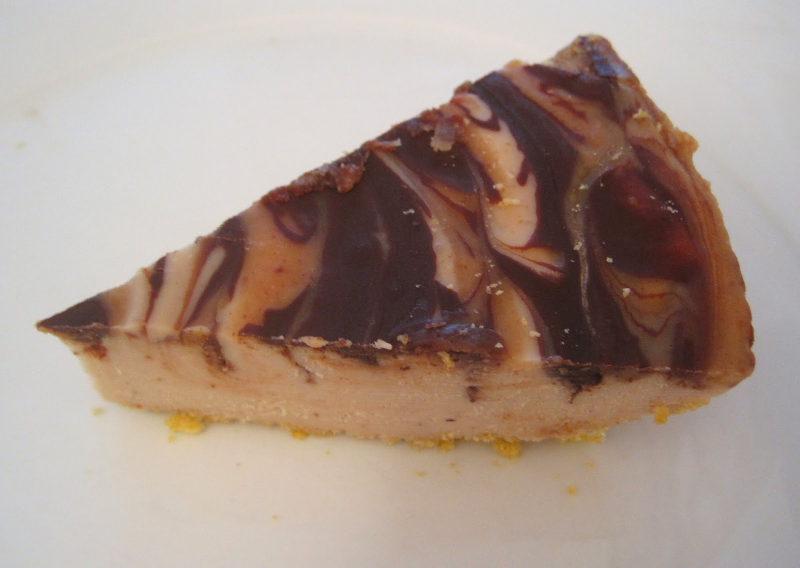 Chocolate Peanut Butter Swirl Cheesecake - Happy.  Healthy. Life. Blog