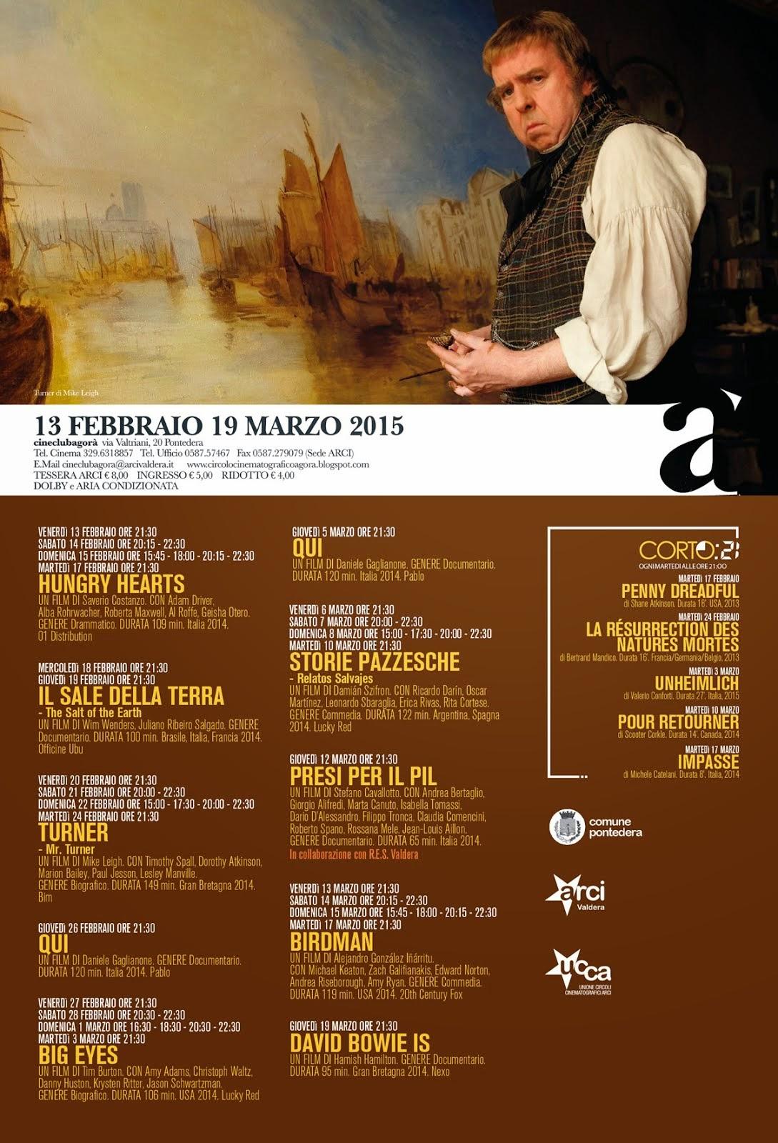 Programma dal 13 febbraio al 19 marzo