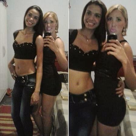 Irmãs foram vistas pela última vez na saída de casa noturna no Rio (Foto: Reprodução)