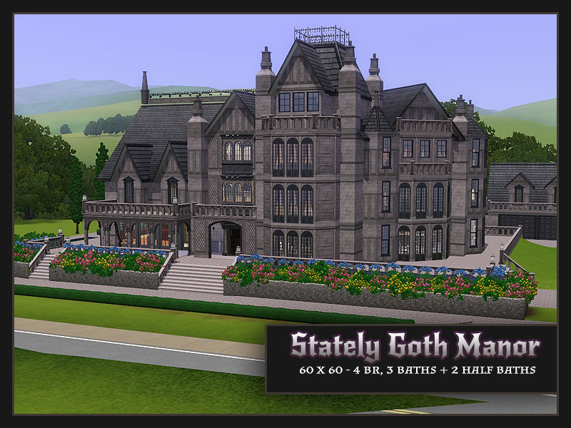 My Sims 3 Blog Stately Goth Manor residential No CC