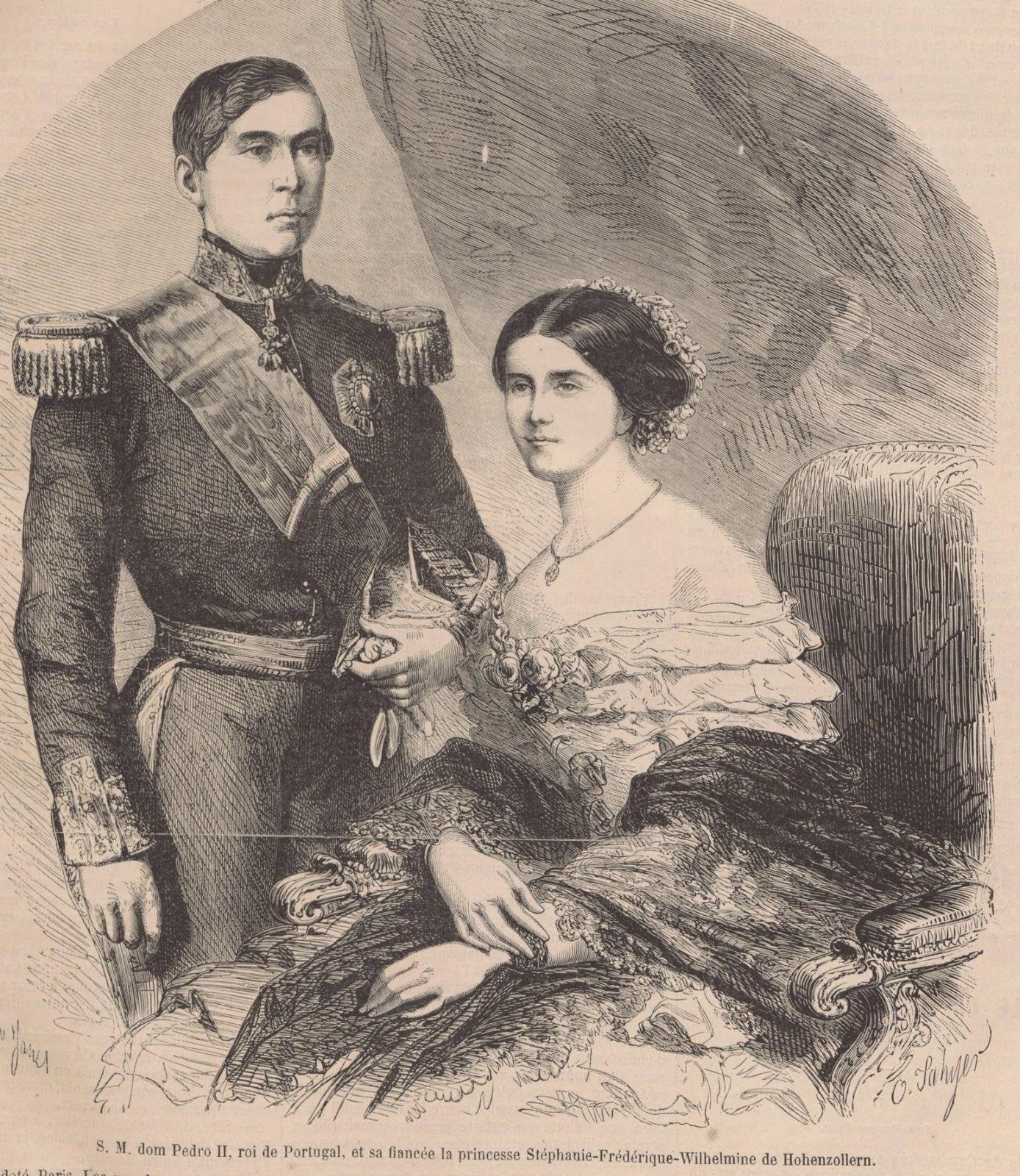 DOM PEDRO V et Stéphanie - 1858