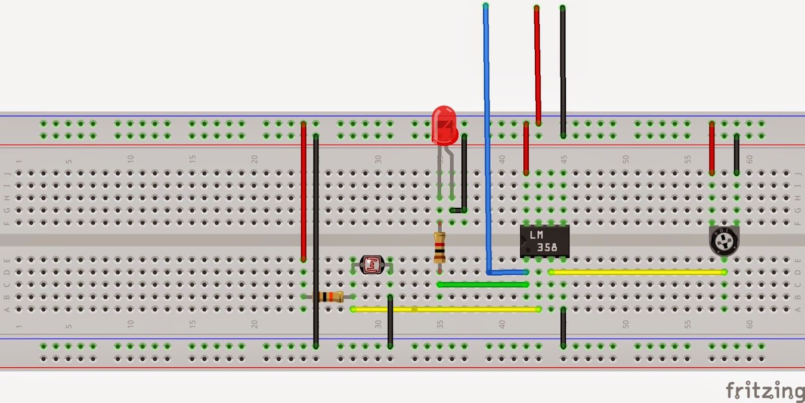 Easy Make Robots Very A Light Following Robot Without Ldr Circuit Sensor With Blue Wire Is Output