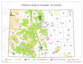 map of federal lands in Colorado