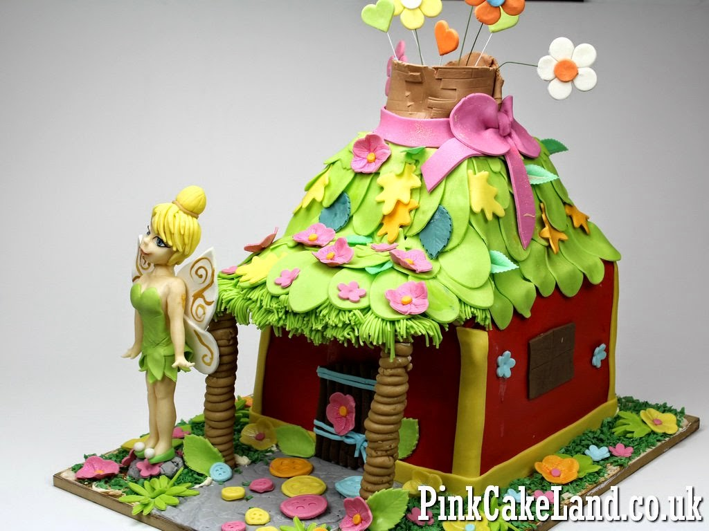 Tinkerbell House Birthday Cake in London