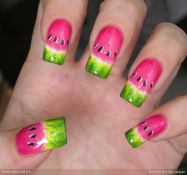 watermelon nail art the little canvas watermelon nail art cosmetic
