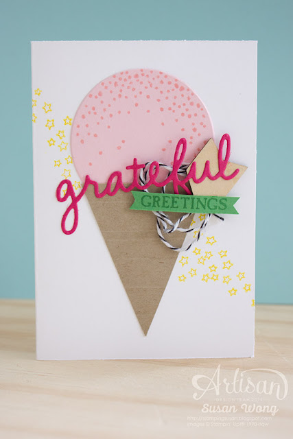 Sparkly Seasons Ice Cream Card ~ Susan Wong