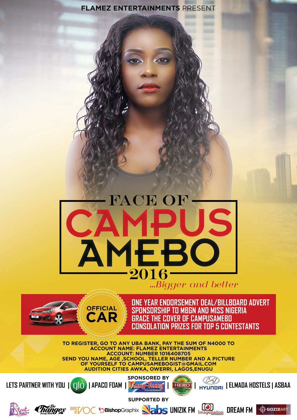 Register for FaceOfCampusAmebo2016