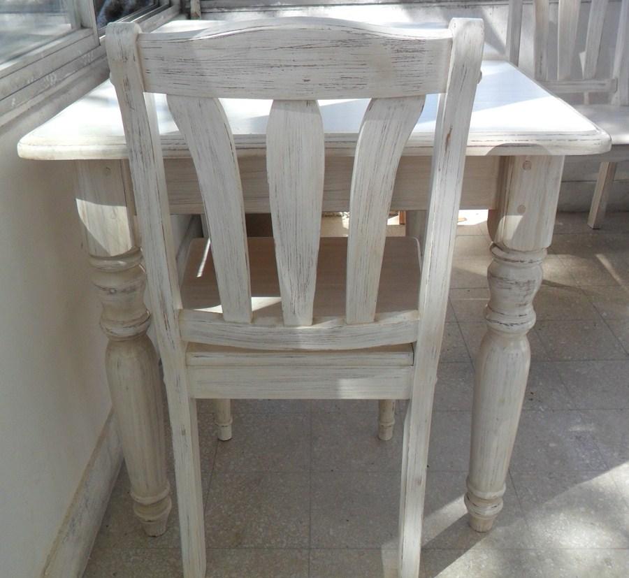 Deco reciclo promocion reciclado decape en blanco for Muebles envejecidos en blanco