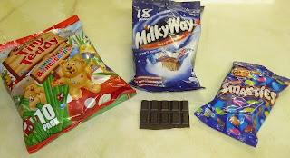 Tiny Teddy, Milky Way, Smarties, Chocolate