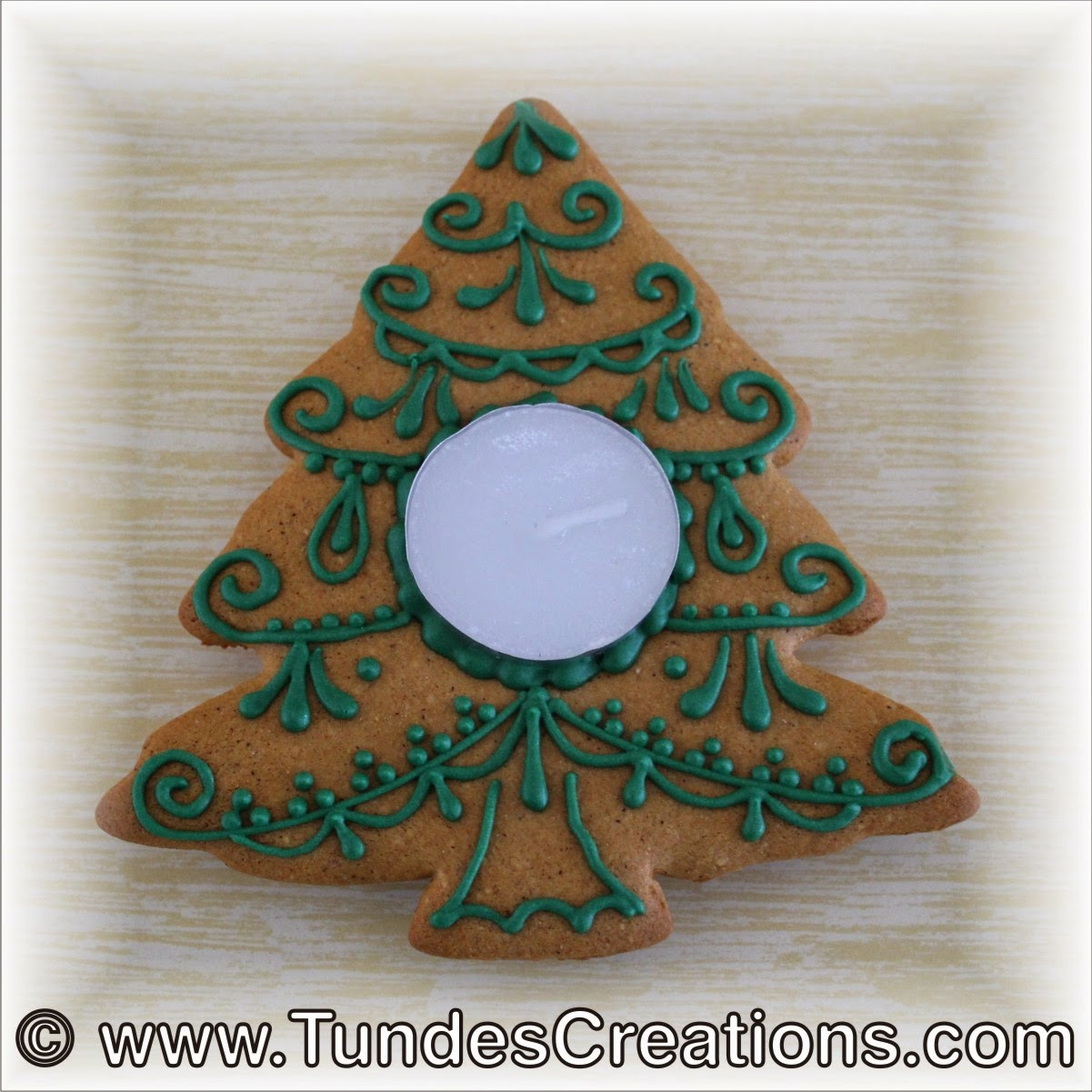 Christmas tree cookie candle holder