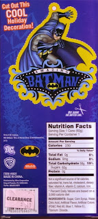 Back of Batman Blue Raspberry Candy Cane box