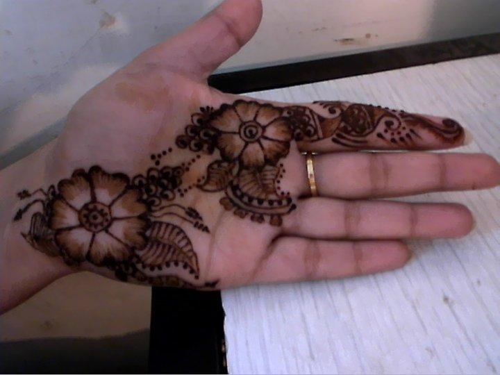 Mehndi Designs For Beginners : Mehndi style easy designs for beginners