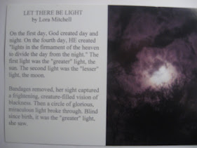 LET THERE BE LIGHT (My 100-word story)