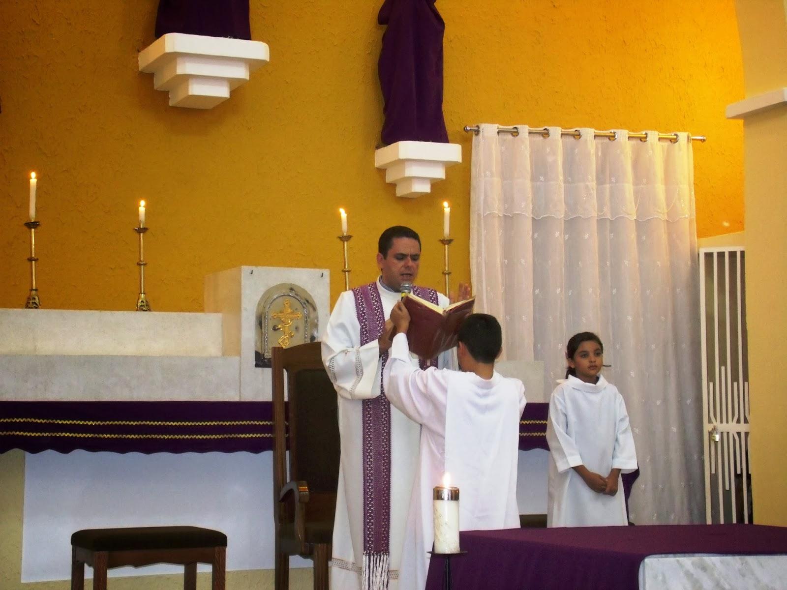 Imagens da Santa Missa da quarta feira de cinzas e abertura da CF 2014 em Almino Afonso - RN