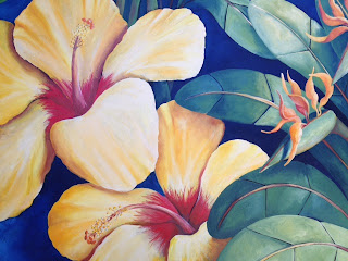 Flower painting detail.  Artist:  Pamela Hunt Lee