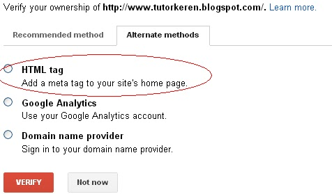 google webmaster,meta tag,blogger,tutorial blog