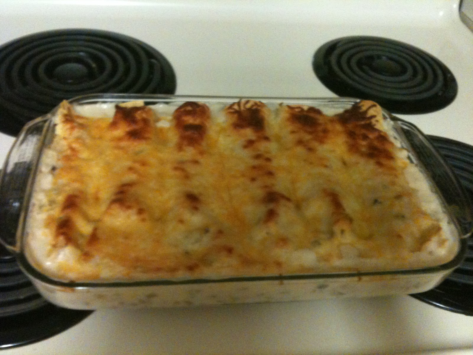 Dithy's Doodles: Easy and Creamy White Chicken Enchiladas