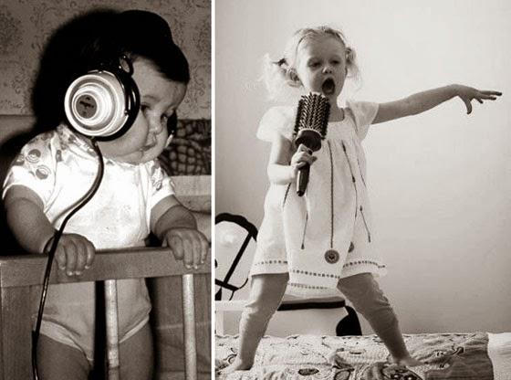 Наушники, малыш, детки, смешные, музыка, песни, петь