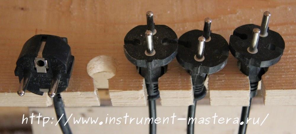 Подставка для вилок электроинструмента