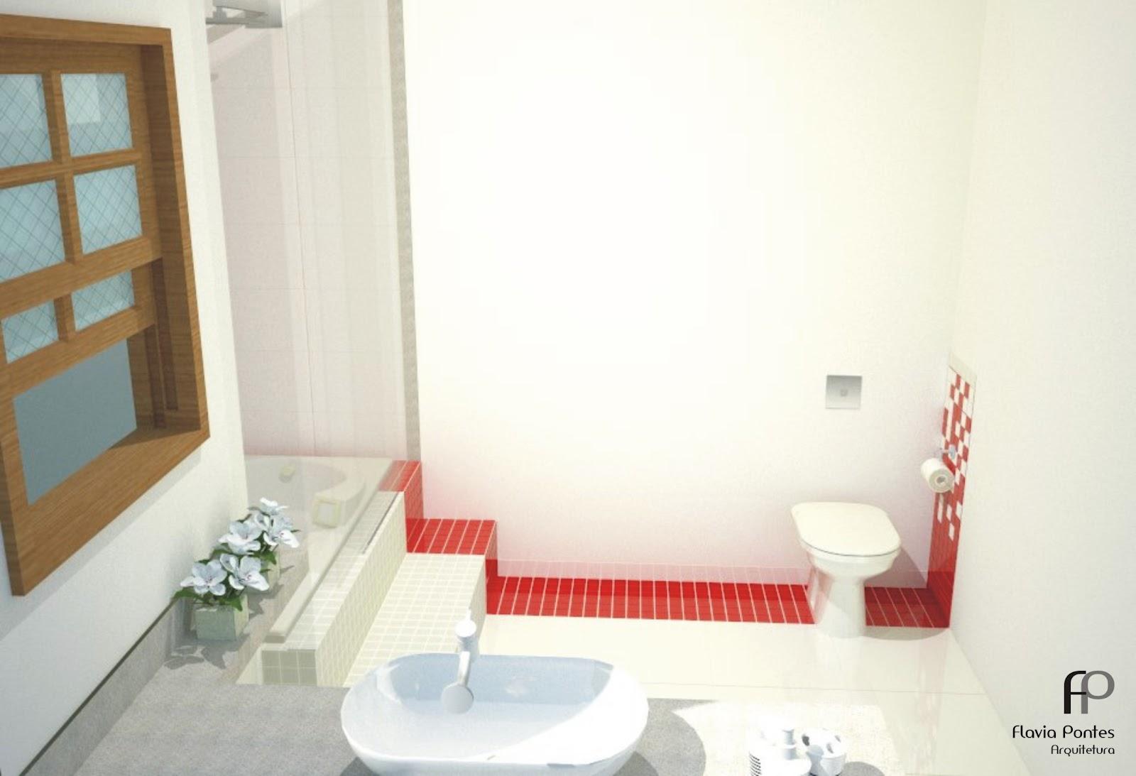 Já para o banheiro social que no dia a dia será utilizado como  #A1302A 1600x1093 Bancada Banheiro Vermelha