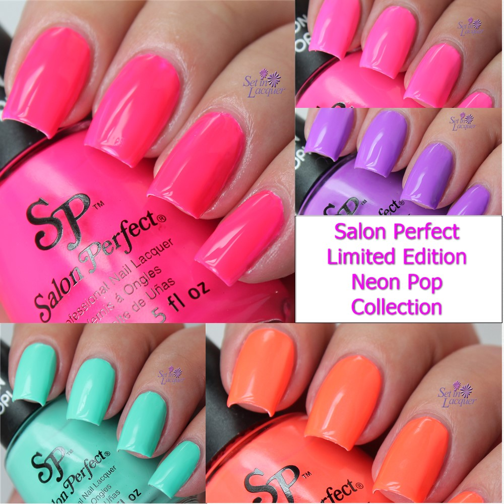 Salon Perfect Neon Pop! Limited Edition polishes swatches, review ...