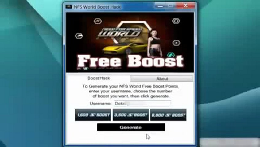 NEED FOR SPEED WORLD BOOST HACK FREE DOWNLOAD