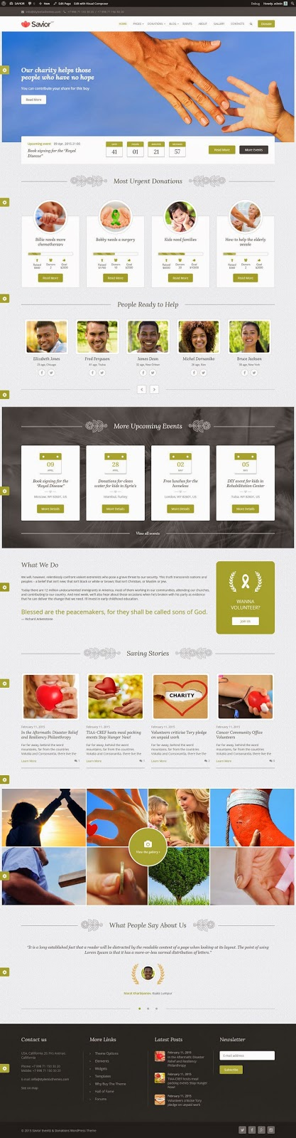 Best Responsive Charity WordPress Theme