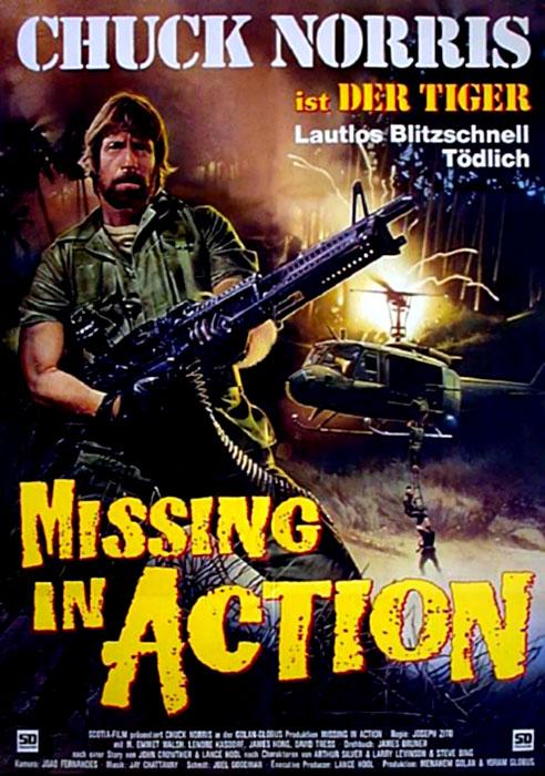 pel237culas vistas missing in action 1984