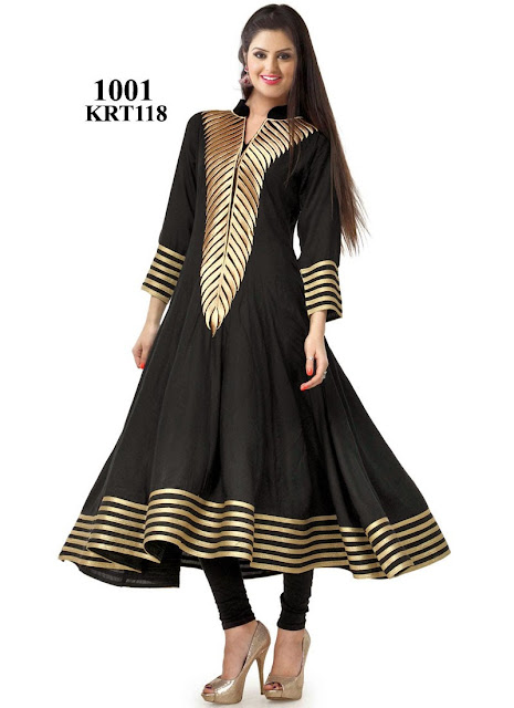 Beautiful Simple Georgette Anarkali Type Kurti