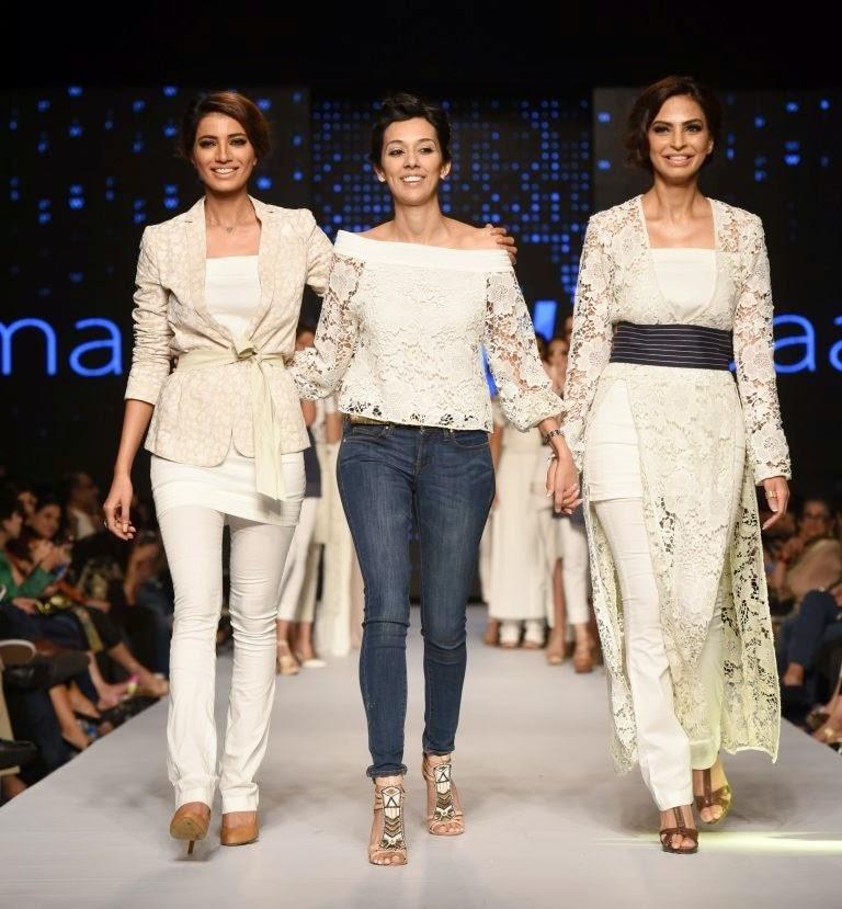 maliha chaudhry Daaman white lace tops