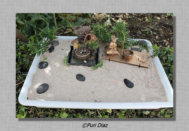 Manualidades puri diaz mini jardin zen for Jardin zen mini