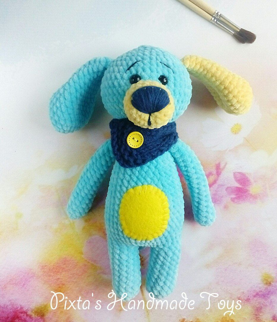 Crochet plush dog amigurumi
