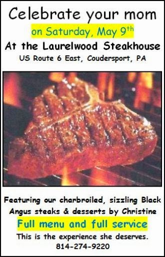 5-9 Treat Mom At Laurelwood Steakhouse