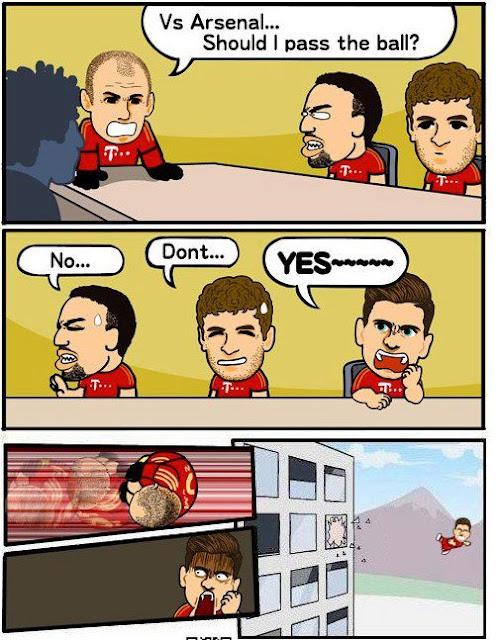 Soll Robben gegen Arsenal abspielen?