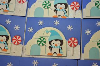 Penguin Winter Candyland Baptism Invitations