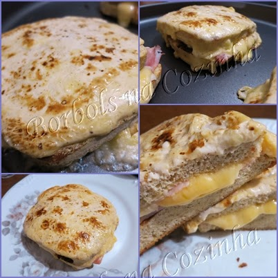 Lanche Croque-Monsieur Low Carb High Fat