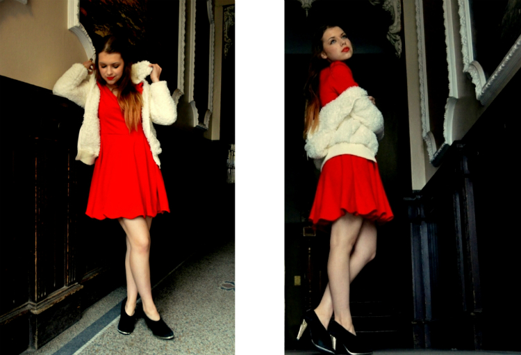 smile girl reddress jasmin myberlinfashion nowistyle outfitpost fullbody