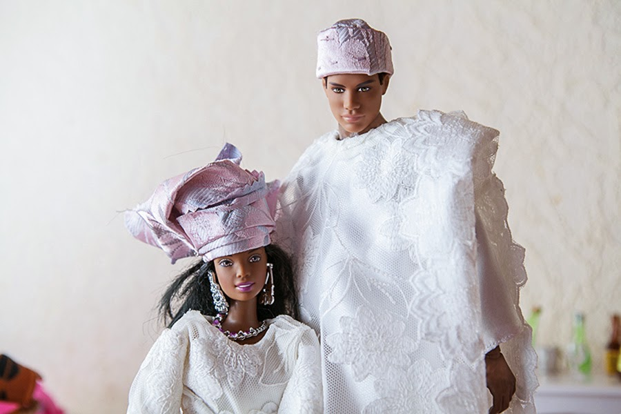 http://www.bellanaija.com/2012/06/22/the-glam-miniature-wedding-of-every-dolls-dream-all-you-need-to-know-about-obi-nwokedis-black-barbie-ken-nigerian-traditional-wedding-shoot/