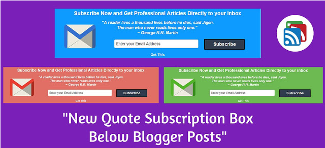 How to Add Quote Subscription Box Below Blogger Post