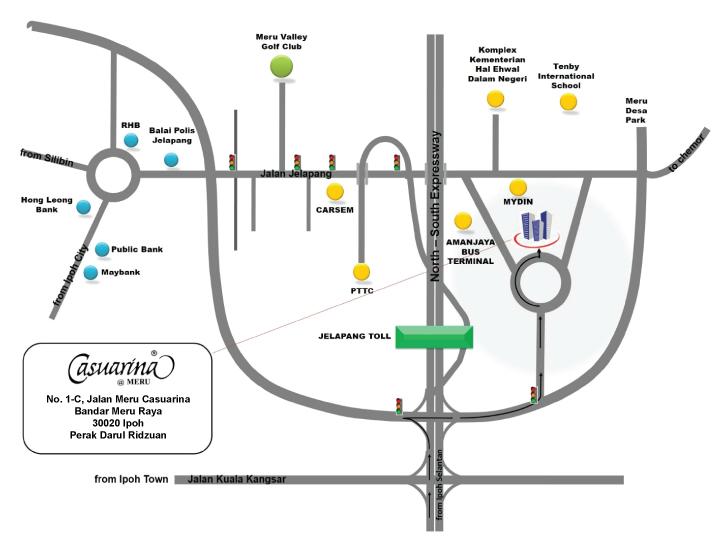 Peta Lokasi Hotel Casuarina @ Meru