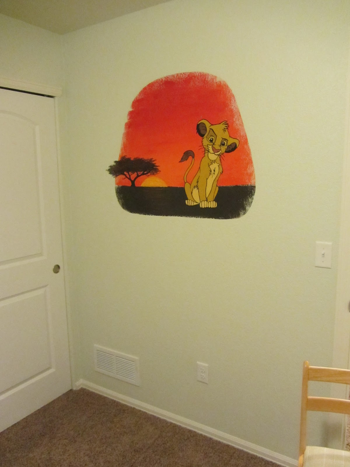 Love Like Enamel: How to Paint a Wall Mural