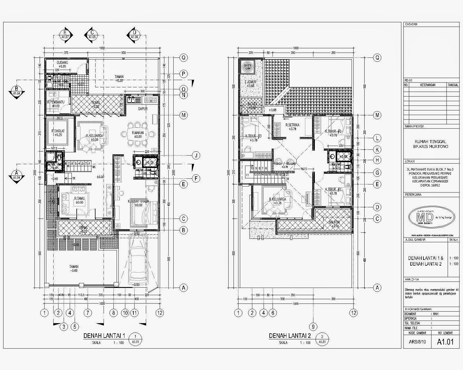 Desain Rumah Minimalis 2 Lantai 4 Kamar Tidur Foto Desain Rumah