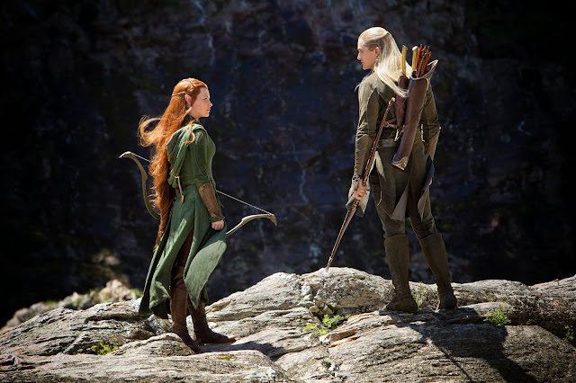 Legolas & Tauriel in The Hobbit: The Desolation of Smaug movie still image picture photo